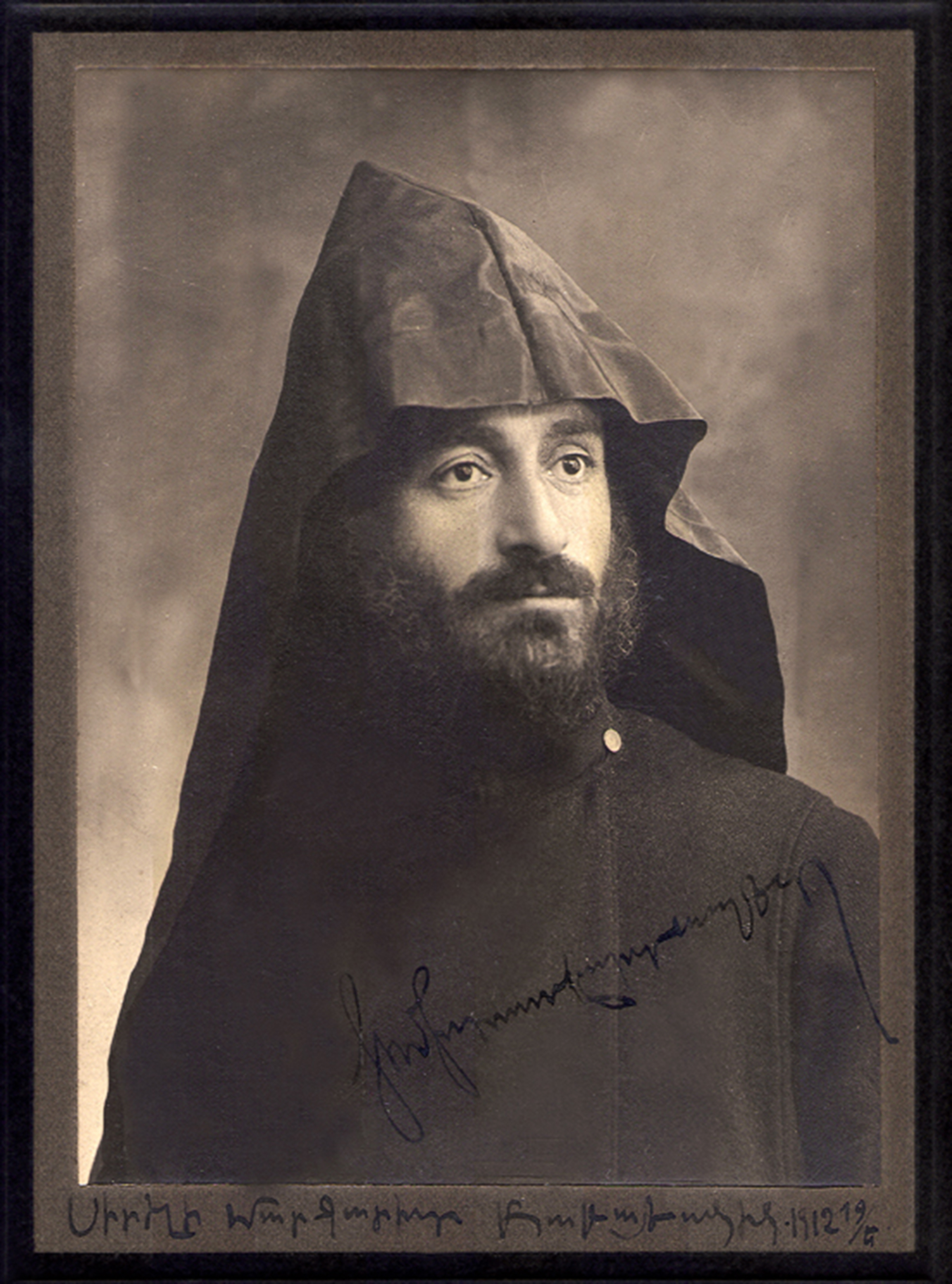 Komitas transcribed and arranged over 3,000 pieces of Armenian folk music, of which only about 1,200 survived.  (Photo: Komitas photographed in Constantinope, 1912. Courtesy of the Komitas Museum-Institute)